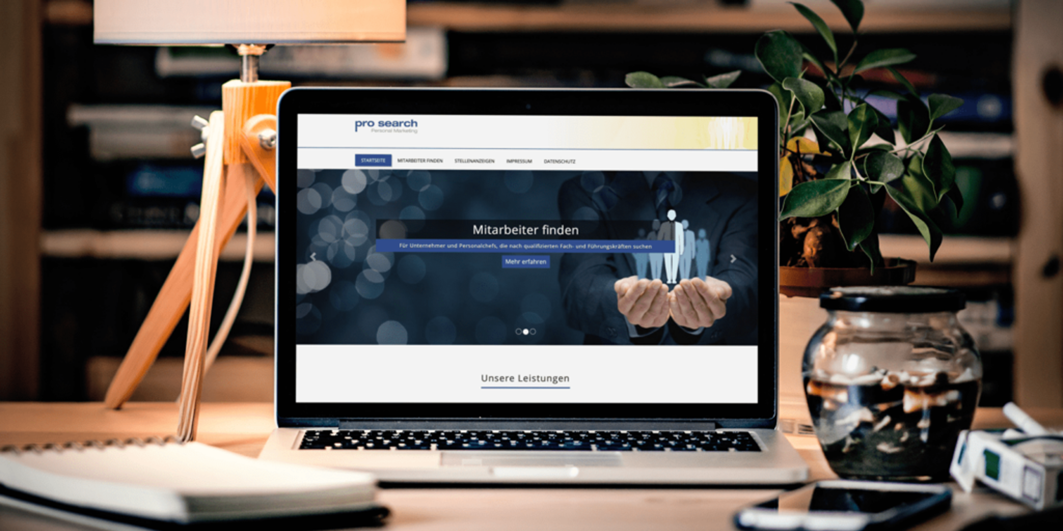 Website Redesign pro search GmbH